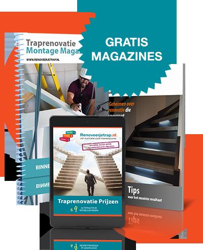 Gratis traprenovatie magazines
